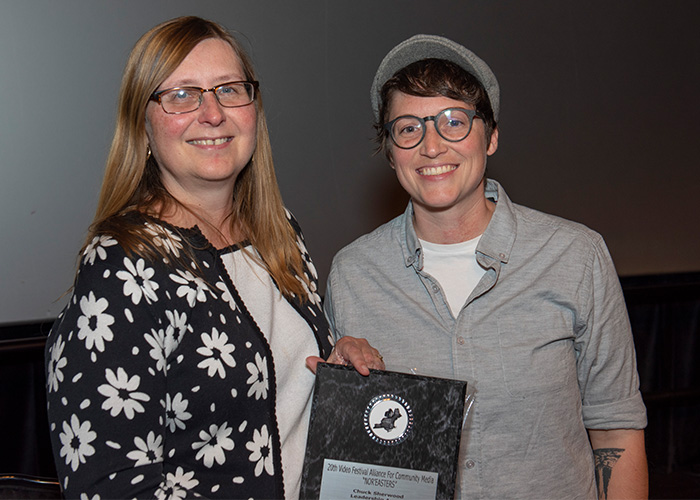 MCTV's Karen Hayden receives Chuck Sherwood Leadership Award